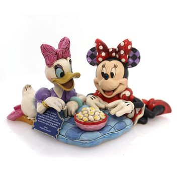 Jim Shore GIRL'S NIGHT Polyresin Minnie Mouse Daisy 4054282