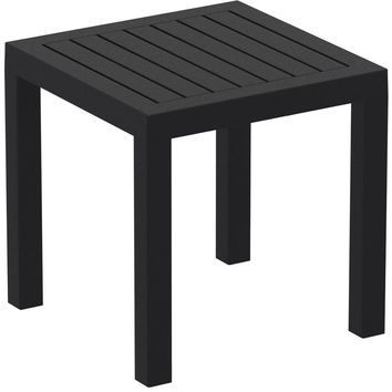 Ocean Square Resin Side Table Black