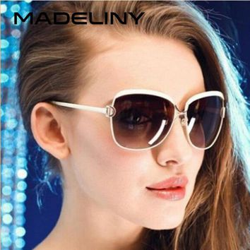 MADELINY New Arrival Fashion Vintage Sunglasses Womens Fashion Brand Designer Metal Frame UV400 Sun glasses MA142