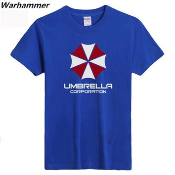 Warhammer Umbrella Corporation Men T shirt Resident Evil Print Short Sleeved T-shirt Cotton O-neck Summer XXXL Fashion Tee Shirt