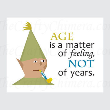Runescape Gnome Child Printable Birthday Card