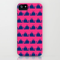 Whale Pattern iPhone & iPod Case by LookHUMAN