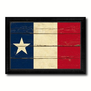 Texas Dodsons Historical Military Flag Vintage Canvas Print with Black Picture Frame Home Decor Wall Art Decoration Gift Ideas