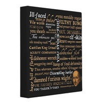 Shakespeare Insults Collection Vinyl Binder from Zazzle.com