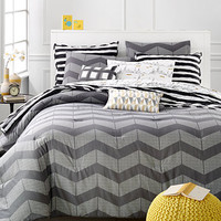 Martha Stewart Whim Collection Grey Spot Chevron Bedding Collection, Only at Macy's