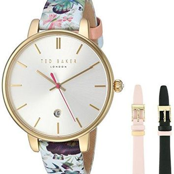 Women's 'KATE' Quartz Ted Baker  Stainless Steel and Leather Dress Watch Multi Color