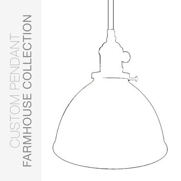 "Custom Design Your Factory 7"" Metal Shade Pendant Light"