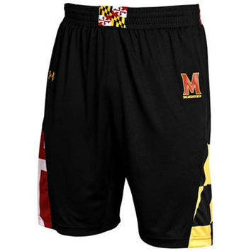 Maryland Terrapins Black Under Armour Performance Replica Basketball Shorts