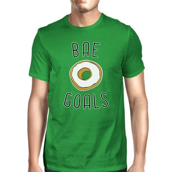 Bae Goals Men's Green T-shirt Round Neck Funny Quote For Couples