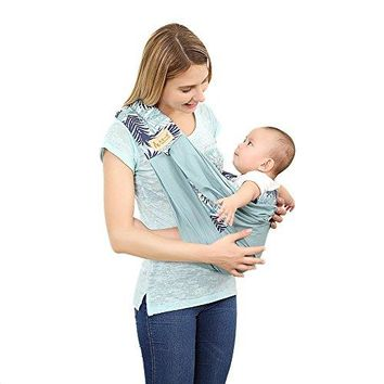 Baby Sling Wrap Carrier by Tian Cai Yi Ding, Organic Cotton Slings and Wraps for Infants,Baby to 35 lbs, Adjustable Nursing Cover for Newborns, Three Colors
