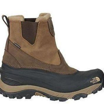 VLXZRBC The North Face Mens Chilkat II Pull-On Boots Demitasse Brown Waterproof