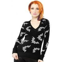 SOURPUSS BATTY SWEATER BLK