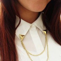 Triangle Collar Brooches  from Emma Warren