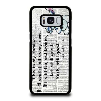 LILO AND STITCH QUOTES Disney Samsung Galaxy S3 S4 S5 S6 S7 Edge S8 Plus, Note 3 4 5 8 Case Cover