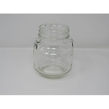 Consumers Glass Screw Top Jar 4in L x 4in W x 5in H Clear Vintage Glass -- Used