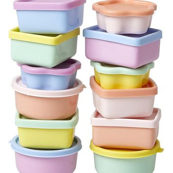 Colorful Pastel Mini Food Containers by Rice - LAST ONE!