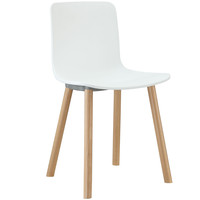 Sprung Dining Side Chair in White