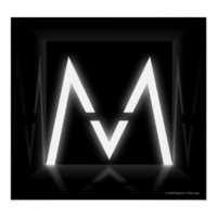Maroon 5 Glowing M Poster Print from Zazzle.com