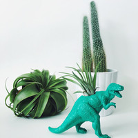 Small Dark Turquoise T-Rex Dinosaur Planter Air Plant; Dinosaur Planter; Dino; Home Decor; Desk Accessory; Unique Gift Idea; Air Plant