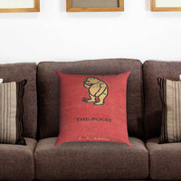winnie the pooh cover book Pillow Cover , Custom Zippered Pillow Case One Side Two Sides