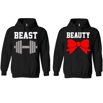 Beast and Beauty Black Hoodie