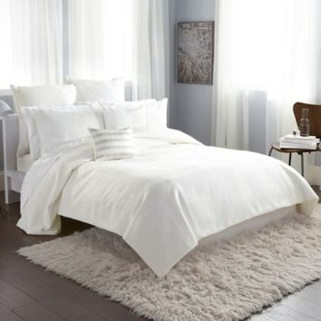 DKNY City Line Duvet Cover in Ivory
