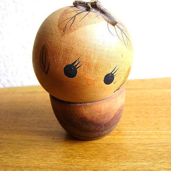 Japanese Kokeshi Doll Vintage Wood Nymph by VintageFromJapan