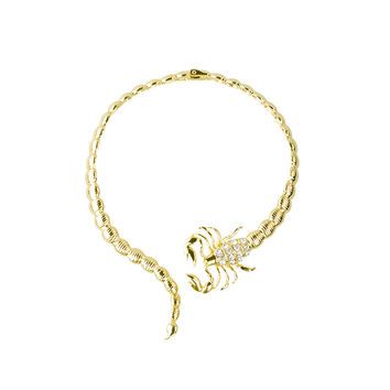 Europe and the United States fashion jewelry gold alloy jewelry pendant  scorpion necklace scorpion collar for women