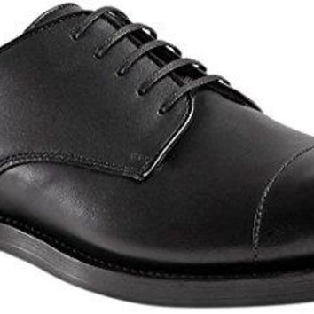 Gucci Men's Calfskin Cap-Toe Lace-up Oxford Shoe, Black (Nero) 367927
