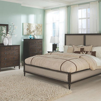 Province Queen Size Upholstered Bed