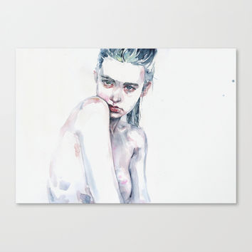 Ali Michael Canvas Print by Agnes-cecile