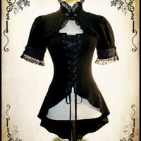 Steampunk clothing blouse steam punk clothing medieval Miss Delphine Shirt Victorian costume