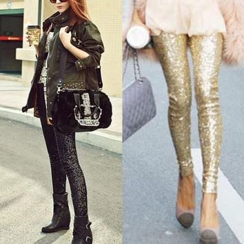 *online exclusive* sequin leggings