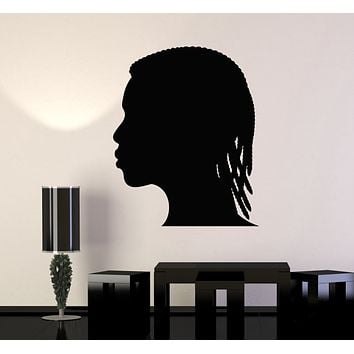 Vinyl Wall Decal Boy Hairstyle Art Beauty Hair Salon Stickers Mural (g339)
