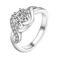 Twist Shape Silver Ring