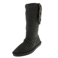 Bearpaw Womens Knit Tall Knit Fold-Over Casual Boots