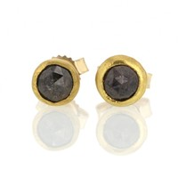 Elizabeth Street | Opaque Diamond Gold Stud Earrings at Voiage Jewelry