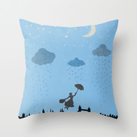 flying nanny... Throw Pillow by studiomarshallarts