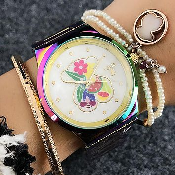 TOUS Women Multicolor Fashion Quartz Movement Wristwatch Watch