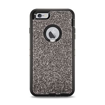The Black Glitter Ultra Metallic Apple iPhone 6 Plus Otterbox Defender Case Skin Set