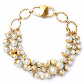 Paulina | Pearl Cluster Necklace