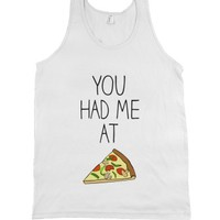 White Tank | Funny Pizza Shirts