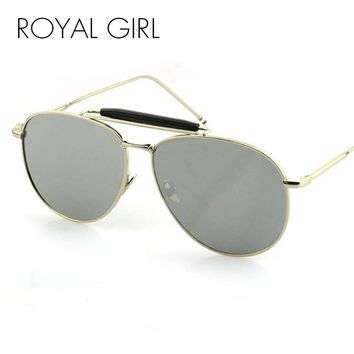 ROYAL GIRL New Fashion Reflective Sunglasses Women Brand Designer Mujer Vintage lunettes mirror sunglasses High Quality ss399