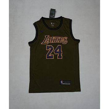 Los Angeles Lakers #24 Kobe Bryant NBA Salute To Service Jerseys - Best Deal Online