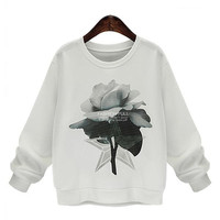 Rose Printed Sweatshirt