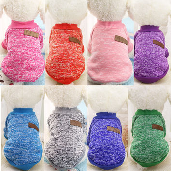 7 colors Dog sweater winter Pet clothes for small dogs sweater large pet dog cat clothes Teddy clothing pet cat supplies