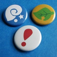Animal Crossing Pinback Button Set