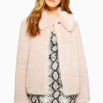 Luxe Faux Fur Coat | Topshop