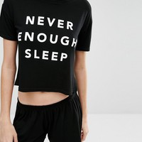 Adolescent Clothing Never Enough Sleep Short Pyjama Set at asos.com