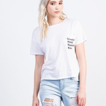Top Model Cropped Tee